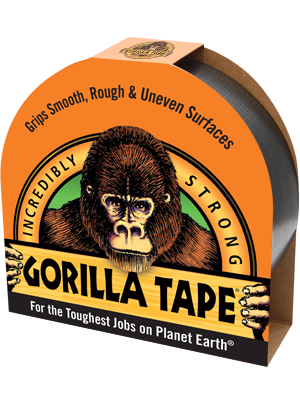 GORILLA Heavy Duty Black Gaffa Tape